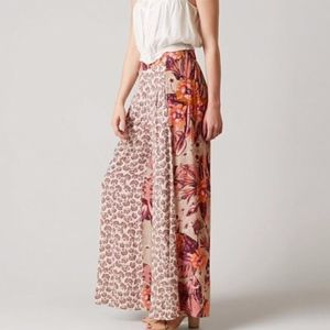 Free People In The Mix Printed Wide Leg Pants